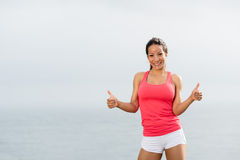 Sporty woman success Royalty Free Stock Photo