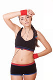 Sporty woman tired Stock Image