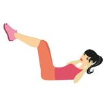 Sporty woman training vector illustration Stock Photography