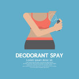 Sporty Woman Using Deodorant Spray Stock Photos