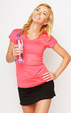 Sporty woman with water bottle Royalty Free Stock Photography