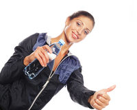 Sporty woman with water Stock Photo