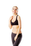 Sporty woman after workout smiling Royalty Free Stock Photography