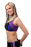 Sporty young blond woman royalty free stock photography