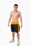 Sporty young male in boxer shorts Royalty Free Stock Photography