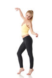 Sporty young woman dancing Royalty Free Stock Photo