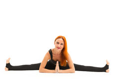 Sporty young woman doing yoga asana Royalty Free Stock Images