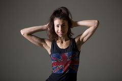 Sporty young woman portrait Stock Image