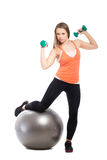 Sporty young woman Stock Image