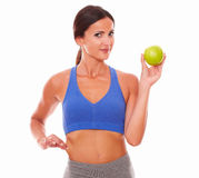 Sporty young woman trying to lose weight Royalty Free Stock Photos