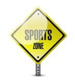 Sportzonenzeichen-Illustrationsdesign Stockfotografie