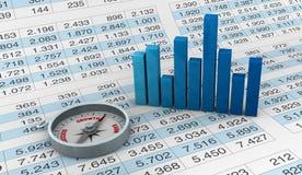 sporządzać mapę spreadsheets Obrazy Stock