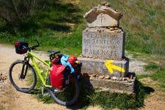 Sposób świętego James kamienia znak Palencia Fotografia Royalty Free