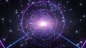 Sposób duszy latanie Przez cały gwiazd Tunelowych W wszechświacie royalty ilustracja