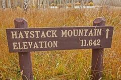 Sposób Haystack góra Obraz Stock