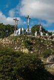 Sposób krzyż i Kalwaryjscy budujący rok St Louis Monfor temu zdjęcia stock