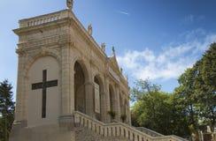Sposób krzyż i Kalwaryjscy budujący rok St Louis Montfo temu zdjęcie royalty free