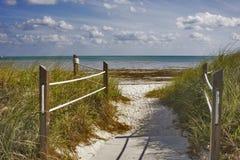 sposób na plażę zdjęcie stock