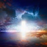 Sposób niebo, niebiański drzwi fotografia royalty free