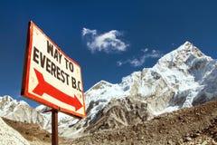 sposób podstawowy Everest obóz obraz stock