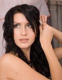 Sposa abbastanza giovane del brunette Fotografie Stock