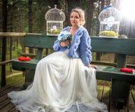 Sposa al giorno delle nozze fotografia stock