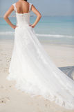Sposa alla cerimonia nuziale di spiaggia Fotografie Stock
