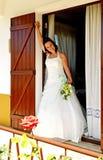 Sposa alla finestra Immagini Stock Libere da Diritti