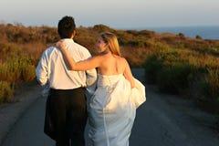 Sposa & sposo Immagini Stock