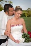 Sposa & sposo romantici Fotografia Stock