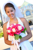 Sposa asiatica alla cerimonia nuziale Fotografie Stock Libere da Diritti