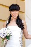 Sposa bella con il mazzo Fotografia Stock Libera da Diritti