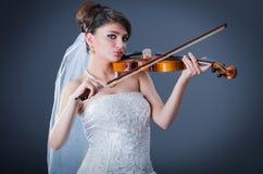 Sposa bella in studio Fotografia Stock