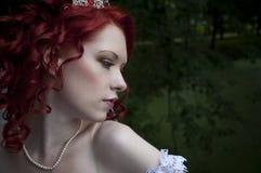 Sposa bianca Fotografie Stock