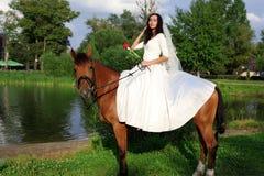 Sposa a cavallo Immagine Stock Libera da Diritti