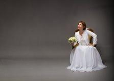 Sposa che cerca con lo spazio vuoto fotografie stock