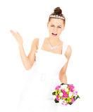 Sposa che ha un problema Fotografia Stock