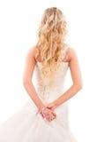 Sposa con capelli giusti lunghi dalla parte posteriore Immagine Stock Libera da Diritti