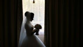 Sposa con il mazzo archivi video