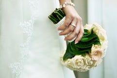 Sposa con il mazzo Immagine Stock
