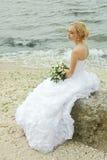 Sposa con il mazzo Fotografie Stock