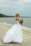 Sposa con il mazzo Fotografia Stock Libera da Diritti