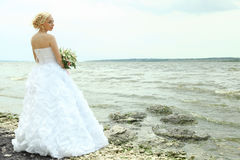 Sposa con il mazzo Immagini Stock