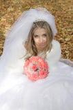 Sposa con il mazzo delle rose fotografie stock libere da diritti