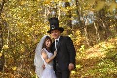Sposa con il suo sposo Immagini Stock