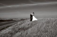 Sposa con il suo sposo Immagine Stock