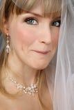Sposa con l'espressione sleale fotografia stock