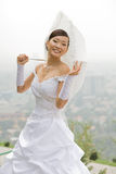 Sposa con l'ombrello Fotografia Stock Libera da Diritti