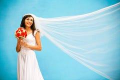 Sposa con un mazzo di nozze Fotografia Stock