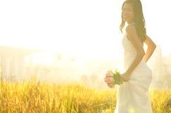 Sposa corrente Fotografia Stock Libera da Diritti